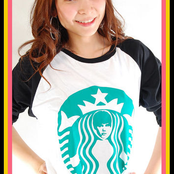 New Justin Bieber Rare Starbucks Women Baseball T Shirt Tank Top S, M, L