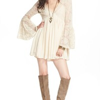Women's Free People 'With Love' Babydoll Dress,