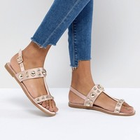 Faith Baubles Flat Sandals at asos.com