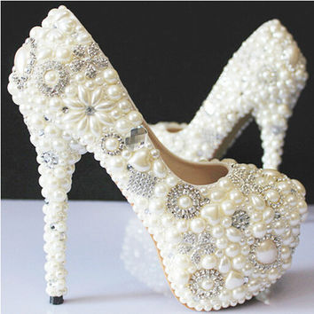 Handmade Luxury Colored Sparkly Rhinestone Bridesmaid Wedding Prom Evening Dress Pumps Shoes