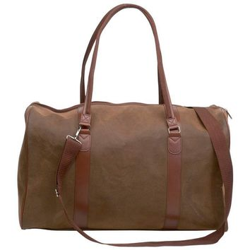 "Travel Gear Faux Leather 21"" Tote Bag"