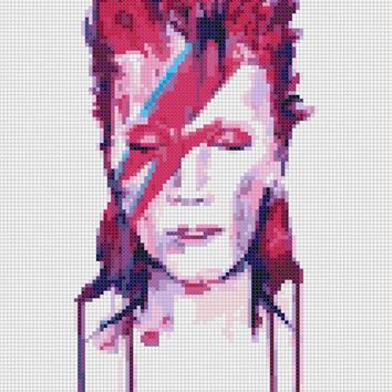 David Bowie Cross Stitch Pattern Modern, Cross Stitch Charts  Pattern PDF cross stitch pdf #22
