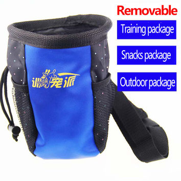 Pet Product Dog Training Feeding Outdoor Travel Snacks Foldable Food Storage Dry Dog Food Accessories Container Waist Bag WW1021