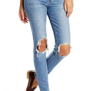 Levi's® 721 Ripped High Waist Skinny Jeans (Rugged Indigo) | Nordstrom