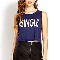 FOREVER 21 #Single Tank Navy/Cream Large