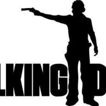 The Walking Dead Rick Grimes Gun Logo Vinyl Sticker Decal For Car Windows Laptop
