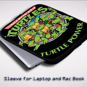 Teenage Mutant Ninja Turtles TMNT Heroes Cartoon iPad 2 3 4 Sleeve for Laptop, Macbook Pro, Macbook Air (Twin Sides)