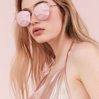 Simone Metal Aviator Sunglasses - Urban Outfitters