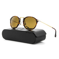 Persol PO3046S 24/57 49mm Havana Brown Sunglasses with Brown Polarized Lenses