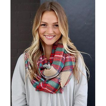 Infinity Scarf (Tan Plaid)