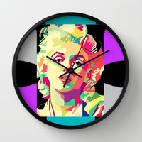 MARILYN/POP ART Wall Clock by Kathead Tarot