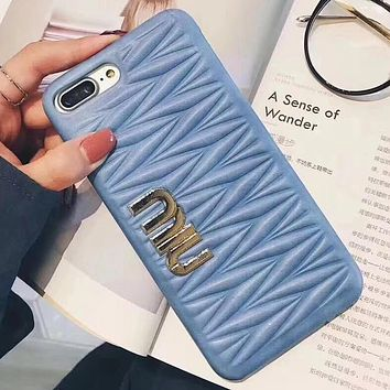 Perfect Miumiu  Phone Cover Case For iphone 6 6s 6plus 6s-plus 7 7plus 8 8plus X