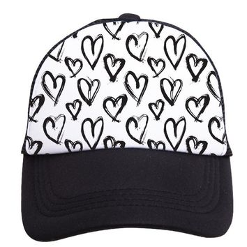 Hearts Trucker Hat (Toddler) by Tiny Trucker Co.