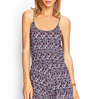 Abstract Knit Cami Romper