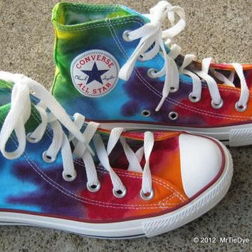 tie dye converse shoes women size 6 5 hi top