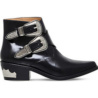 TOGA PULLA - Double buckle leather ankle boots | Selfridges.com