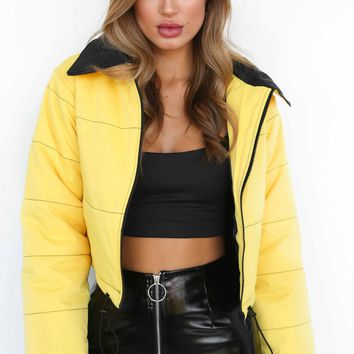 Buy Our Road Warrior Puffer Jacket in Yellow Online Today! - Tiger Mist