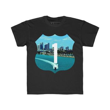Speed Boat T-Shirt Black Youth Quickstrike