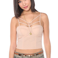 LA Boutique Top Beginning Bodice in Taupe