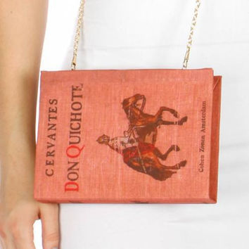 Don QuicHote Book Clutch Purse
