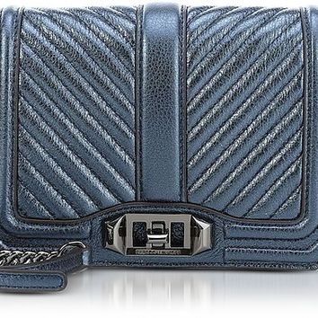 Rebecca Minkoff Laminated Chevron Quilted Small Love Crossbody