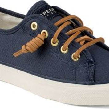 Sperry Top-Sider Seacoast Canvas Sneaker NavyBurnishedCanvas, Size 6.5M  Women's Shoes