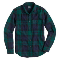 J.Crew Mens Tall Herringbone Flannel
