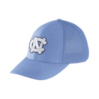 Nike College Dri-FIT Swoosh Flex Mesh Back (UNC) Fitted Hat Size FLX