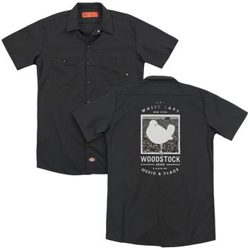 Woodstock - Birds Eye View(Back Print) Adult Work Shirt