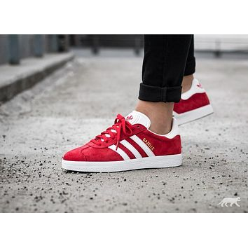 Adidas Originals Wmns Gazelle Red/ White / Gold Metallic Sneakers Classic Casual Shoes - S76228