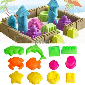 Beach Toys Pyramid Sand Building Molds For Kids Child Baby 6PCS/SET