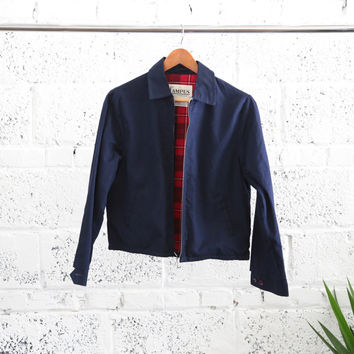 Deadstock 1960's Campus Outerwear Flannel-lined Collared Jacket