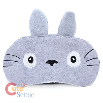My Neighbor Grey Totoro Eye Mask Travel Sleeping Eye Masks Pad at Cutesense.com