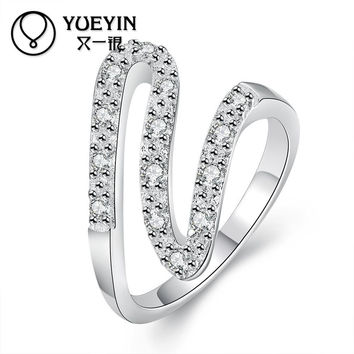 New arrival trendy round style women 100% pure silver rings jewelry engagement rings femal finger rings with 925 stamp