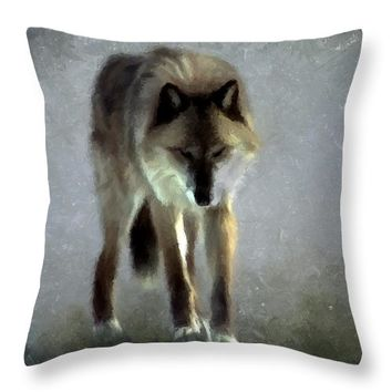Majestic Wolf Throw Pillow