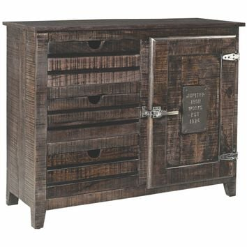 Rustic Bada Dark Brown Cabinet