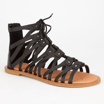 Bamboo Impart Womens Sandals Black  In Sizes
