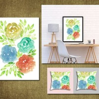 Hand painted flowers1e