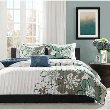 Allison Polyester Microfiber Printed Quilt 3 Pieces Set - Bedding | Mi Zone