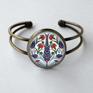 Turkish Jewlery Iznik Jewewlry Turkish Art Bracelet Ethnic Jewelry Turkish Design Iznik Jewelry Ethic Design Iznik Bracelet