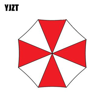 YJZT 9.5x9.5CM UMBRELLA Fashion Car Sticker Bio-Hazard Zombie Outbreak Resident Evil Decal C1-8011
