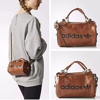 Adidas New Popular Women Shopping Bag Leather Tote Shoulder Bag Handbag Crossbody Satchel Brown I13075-1