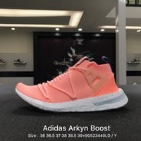 Adidas Arkyn W Green Women Pink Boost Sport Running Shoes - B96508