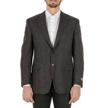 Canali Mens Jacket Long Sleeves Dark Grey