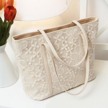 All-match lace bag small fresh 2016 the trend of fashion crochet women handbags messenger bags