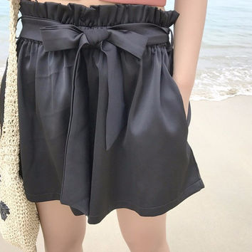 Diane High-Waisted Trouser Shorts