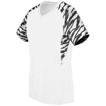 High Five 72333 Girl's Evolution Print V Neck - White White Print
