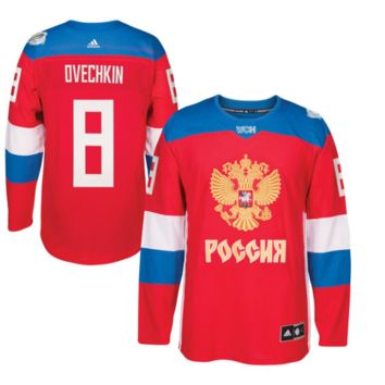 Alexander Ovechkin Russia Hockey adidas Red 2016 World Cup of Hockey Player Jersey