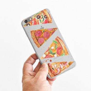 Pizza Pattern - Super Slim - Printed Case for iPhone - S047