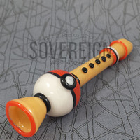 Pokemon Inspired Flute Chillum Pipe